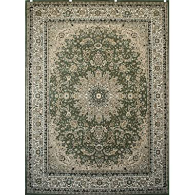 Feraghan/New City Traditional Isfahan Wool Persian Area Rug, 13' x 16', Sage Green