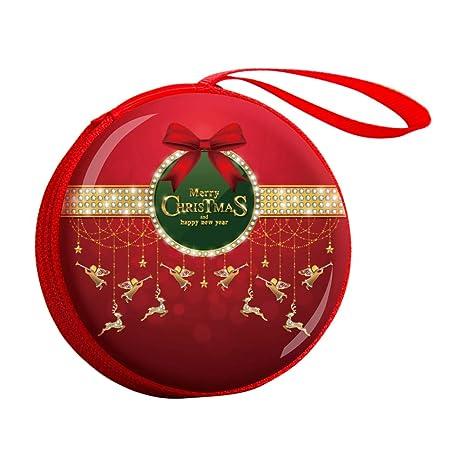 qinlee Navidad Tin Box monedas Carteras Caja de Regalo Candy ...