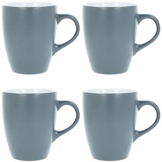 COM-FOUR® Taza de café de cerámica 4x - Taza de café de diseño ...