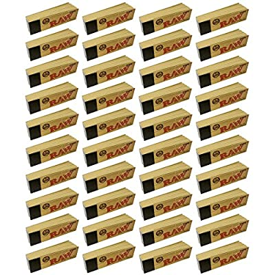 40 x RAW Original Rolling Roll Paper Tips Filter Chlorine Free Roach Card Book by RAW
