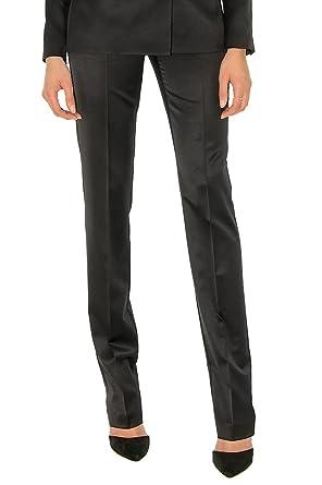 3756ab32545c6 Pantalon Slim en Satin de Laine Noir: Amazon.fr: Vêtements et ...