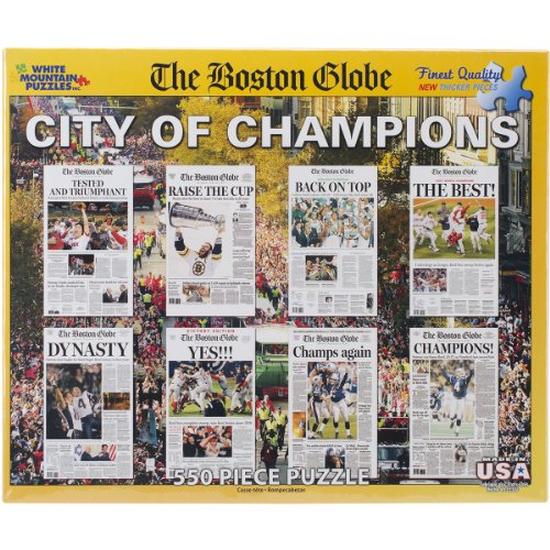 Champions Puzzle (White Mountain Puzzles Boston City of Champions - 550 Piece Jigsaw Puzzle)