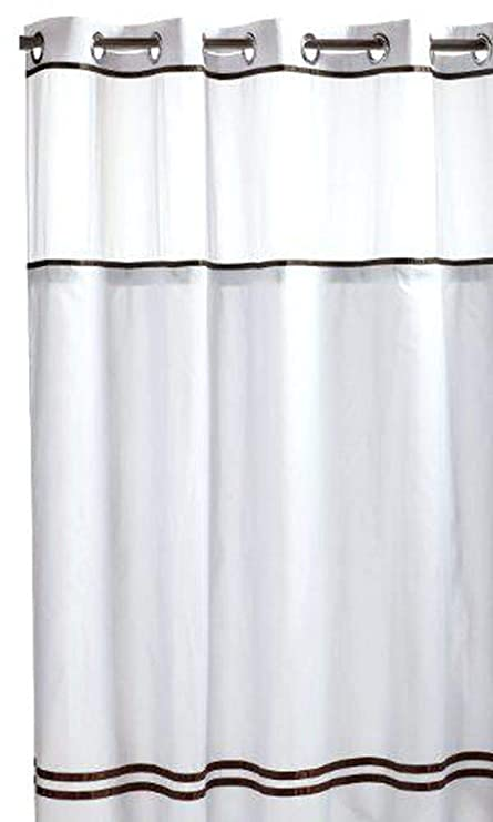 Image Unavailable Not Available For Color HOOKLESS ESCAPE SHOWER CURTAIN WITH SNAP IN LINER