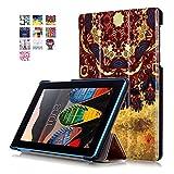 Tab 3 7 Essentia Funda de Piel,Ultra-Thin Slim Funda de Cuero de Piel Carcasa para Lenovo Tab3 7 Essential Tab 3-710F Tablet da 7'' Pulgadas Smart Case Cover con Soporte Function