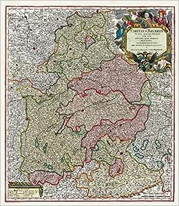 Historische Landkarte Bayern 1741 Ober Und Niederbayern Mit