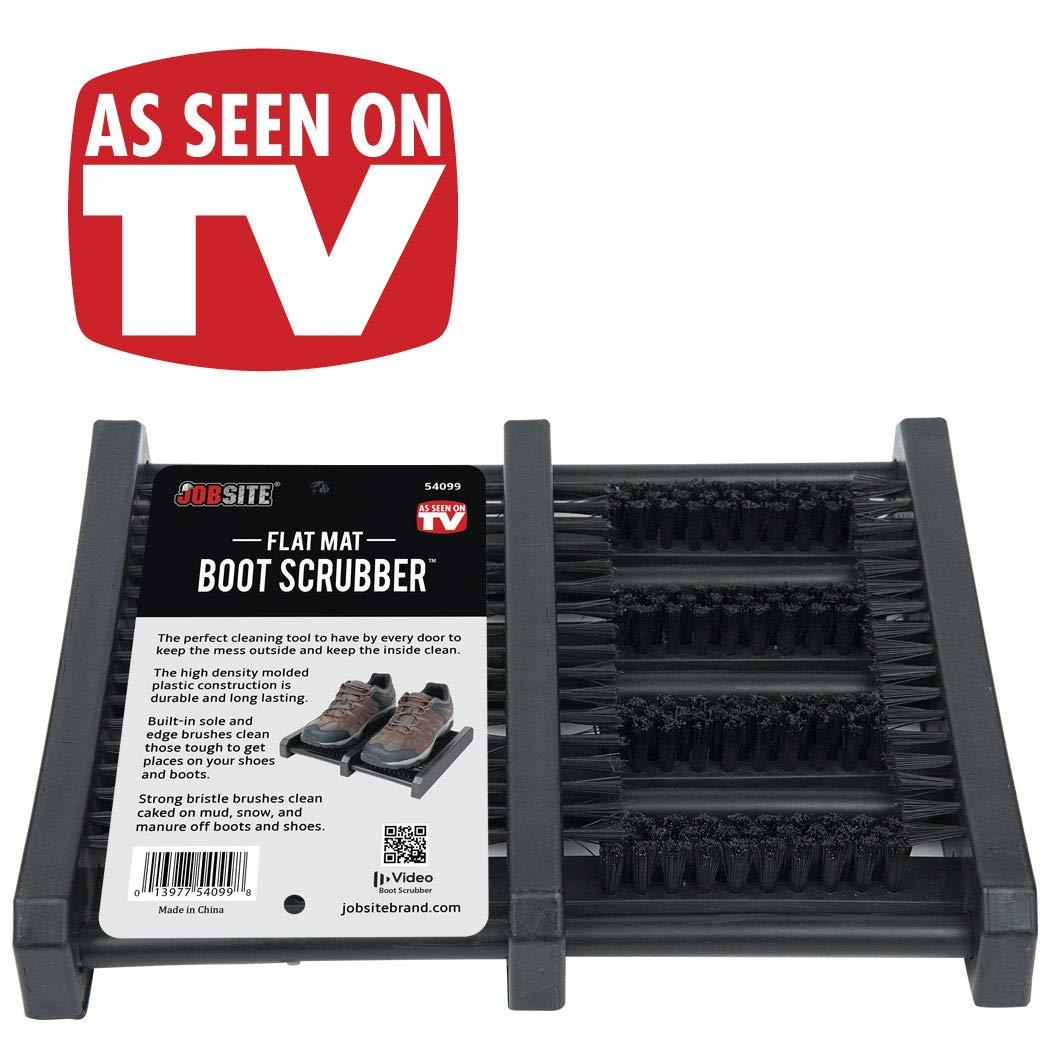 b699850d28 Amazon.com  Jobsite Boot Scrubber Flat Mat Scraper Brush - Heavy Duty Shoe  Scrubber  Home   Kitchen