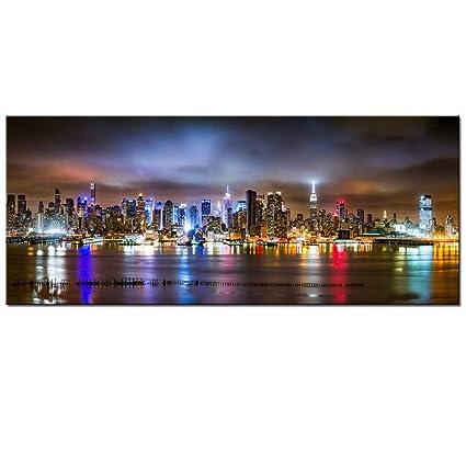 Amazon.com: Sea Charm - New York City Canvas Wall Art, Manhattan ...