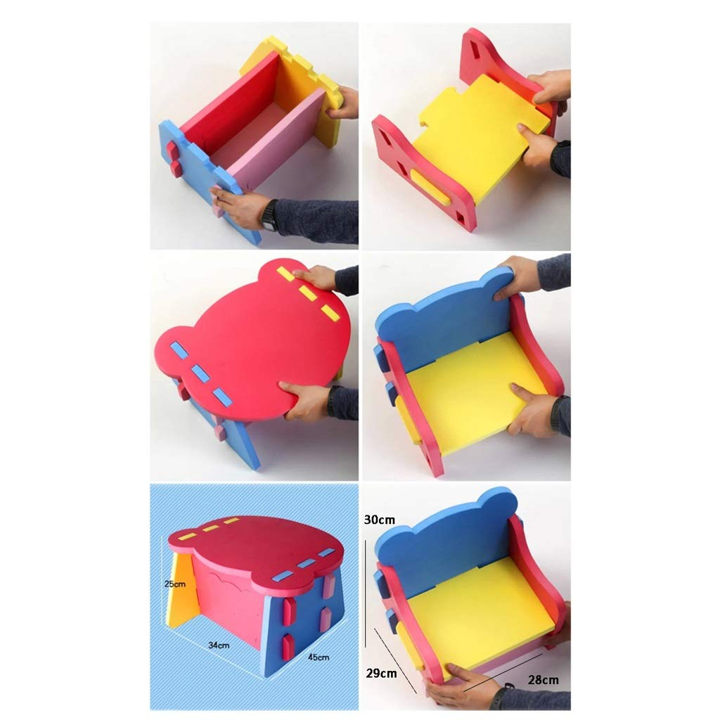 Color : Table+Chair Baby Table and Chair Childrens Set Table and Chair Infant Sofa Chair Table Early Childhood Study Desk Set Baby Dining Table Game Table Chair