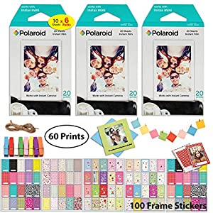 Polaroid Instant Film and Picture Frame Accessory Bundle