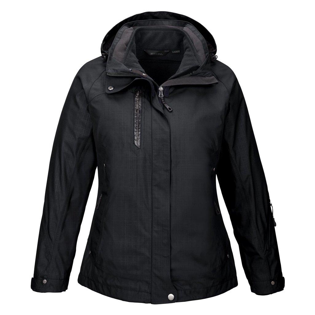 Ash City Ladies Caprice Jacket (XX-Large, Black/Black)