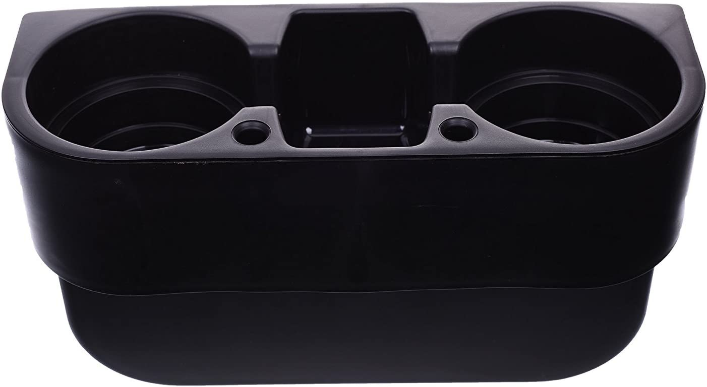 BCP Black Color Auto Car Seat Side Drink Cup Holder Organizer