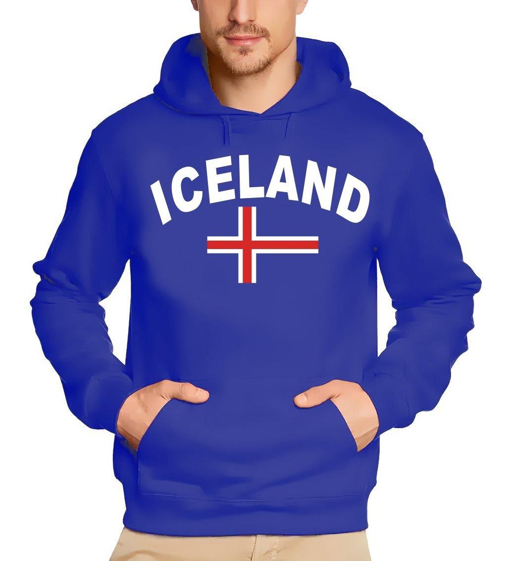 ICELAND Kapuzensweater ISLAND blau, schwarz, weiss S M L XL XXL 3XL Coole-Fun-T-Shirts