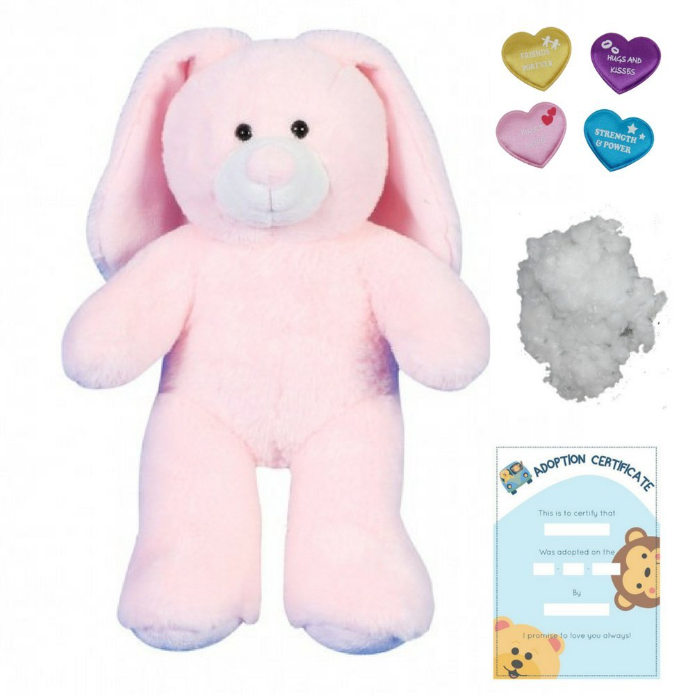 Peluche de Conejo rosa - 25cm - kit para realizar crear un oso de peluche, llevar animales de peluche a cosas - sin costura: Amazon.es: Juguetes y juegos