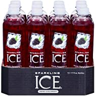 Sparkling Ice Black Raspberry, 17 Ounce Bottles (Pack of 12)
