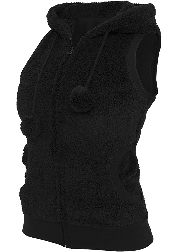 Urban Classics Damen Weste Ladies Teddy Vest TB393