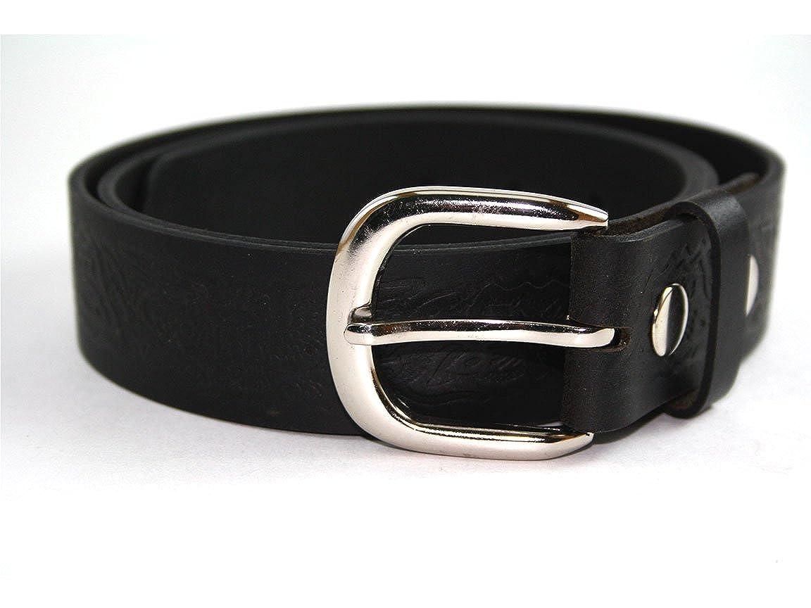 Sanmarc Mens Real Leather Eagle Pattern Belt