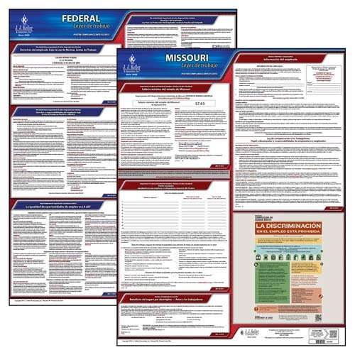 - Missouri & Federal Labor Law Posters - State & Federal Poster Set (Spanish)