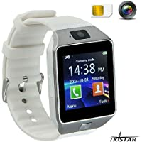 "Smartwatch con Bluetooth Orologio Telefono Intelligente 1.56"" TFT HD LCD Touch Screen Orologio Digitale per Bambini Uomo Donne Andriod IOS Huawei Samsung Bianco DZ09"