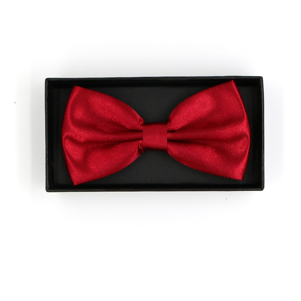 Alina Mens Pre-Tied Satin Formal Tuxedo Bowtie Adjustable Length Large Variety Colors Available