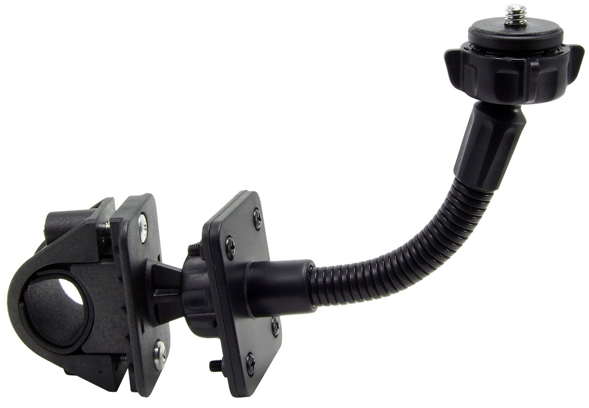 ARKON CMP205 Motorcycle and Bicycle Handle Bar Mount with 5 Inch flexible extension for Cameras with 1/4 20 screw thread