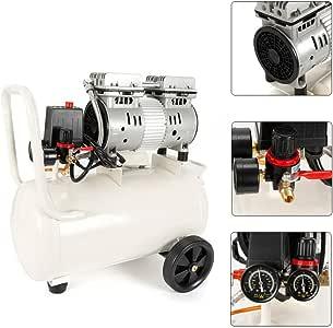 750 W Compresor silencioso compresor de aire 30 litros mantenimiento Oil-free compresores: Amazon.es: Bricolaje y herramientas