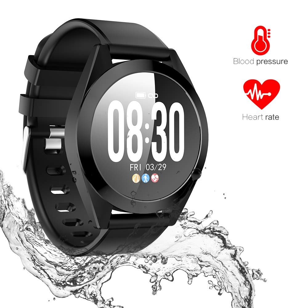 Omngin Fitness Tracker Waterproof – Activity Tracker Watch with Heart Rate Monitor, Blood Pressure Monitor, Sleep Monitor, Step Counter, Calorie Counter for Kids Women and Men