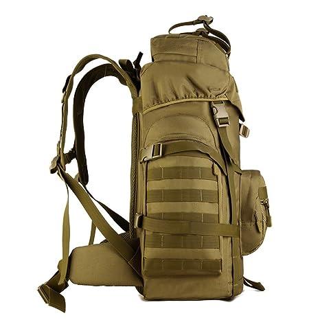 Xuanytp Mochila táctica de nylon de la alta capacidad 60L Mochilas militares Camuflaje que acampa que