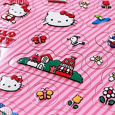 Sanrio Hello Kitty Raised Sticker 1 Sheet: Toys & Games