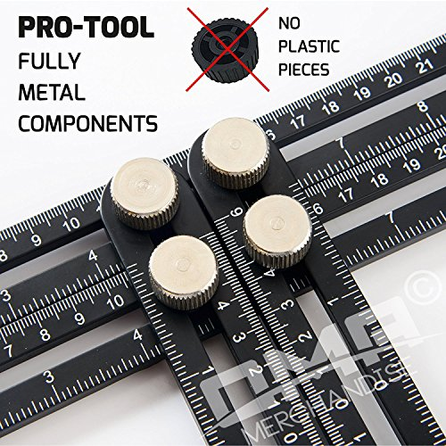 ANY-ANGLE Multi-Angle Measuring Ruler: FULL-METAL Angle-izer Template Tool Made Of Premium Aluminum Alloy – Perfect For Handymen, Builders, Craftsmen, Carpenters, Roofers, Tilers, DIY-ers & GREAT GIFT (Leveling Patio Pavers)