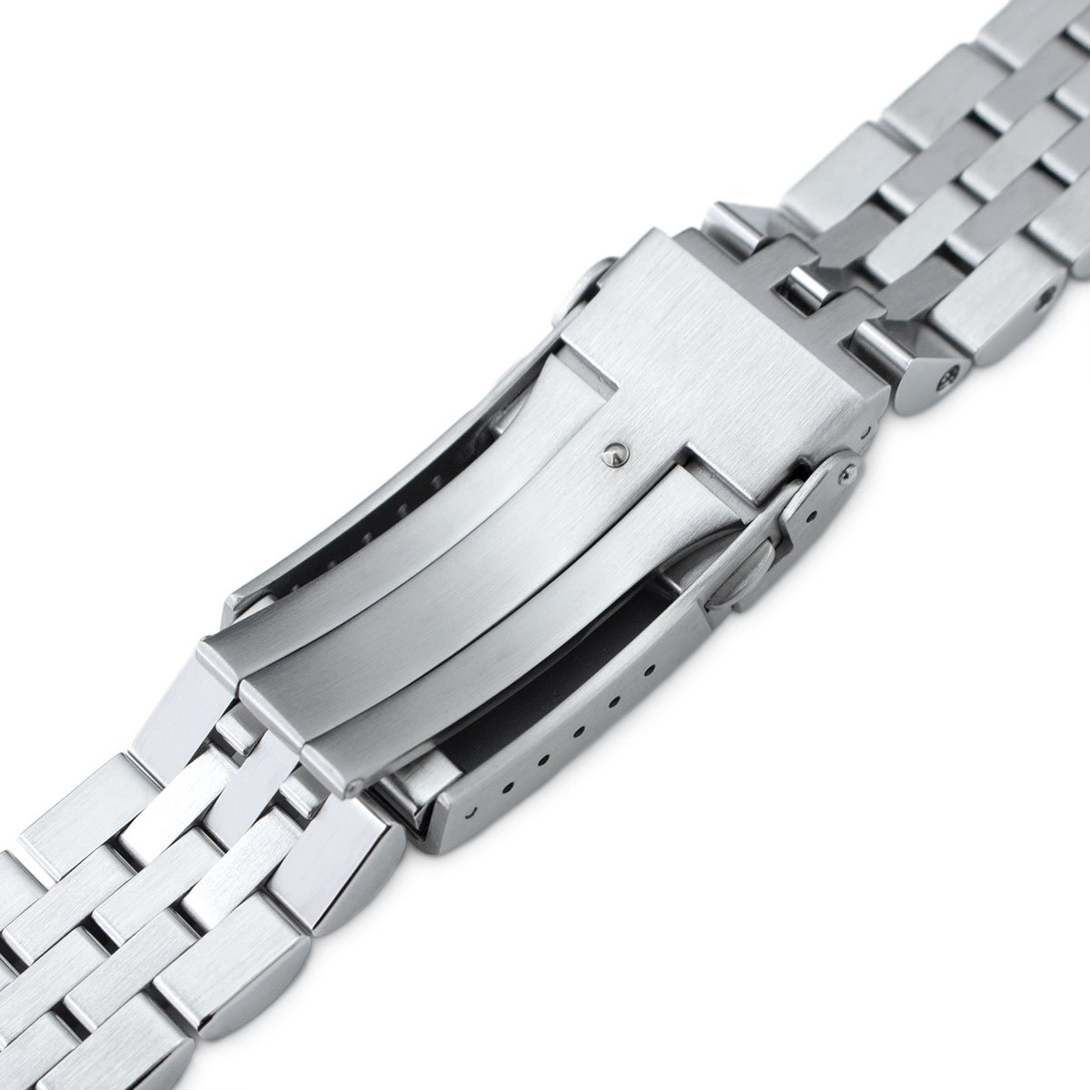 20mm Angus Jubilee 316L SS Watch Bracelet for Seiko Alpinist SARB017, V-Clasp by Seiko Replacement by MiLTAT (Image #7)