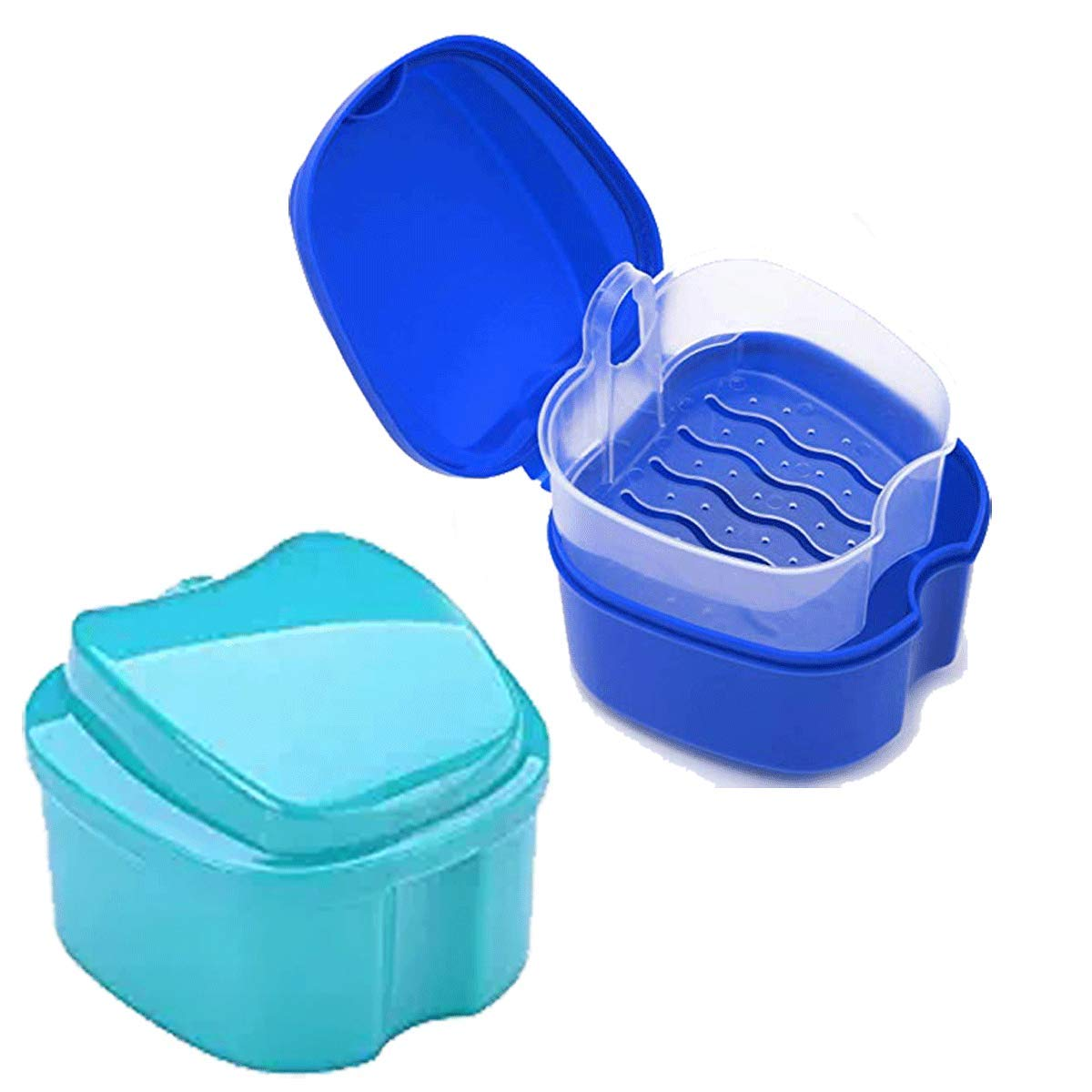 2PCS Teeth Guard Box Denture Storage Case Mouthguard False Teeth Holder