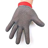 Buwico® Stainless Steel Metal Welding Anti-cutting Glove Level 5 Cut Resistant Glove Butcher Working Safe Glove (Large)