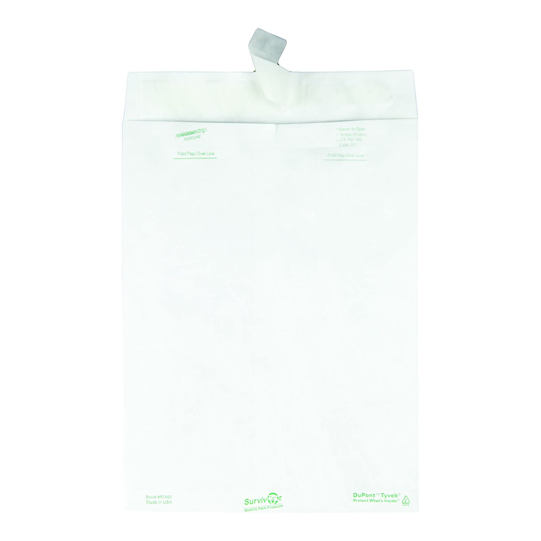 Box of 100 9 x 12 Quality Park Survivor R1460 Tyvek Mailer White