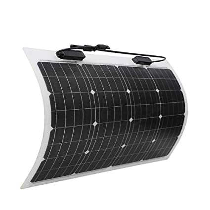 Renogy 50 Watt 12 Volt Extremely Flexible Monocrystalline Solar Panel -  Ultra Lightweight, Ultra Thin, Up to 248 Degree Arc, for RV, Boats, Roofs,