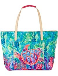 Hearts Of Palm Beach Bag Tote One Size Blue multi