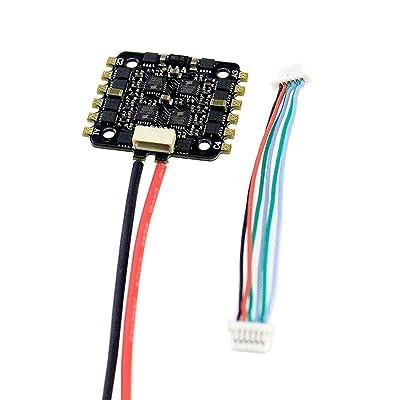 15A 4-EN-1 BLHELI_S ESC Mini F3 F4 Tablero controlador de vuelo Barómetro incorporado OSD 20x20mm Soporte sin escobillas 4S para FPV Drone (Color: Negro): Bricolaje y herramientas