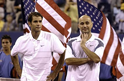 020fc0802bc91 Amazon.com: Andre Agassi and Pete Sampras at the US Open Photo Print ...