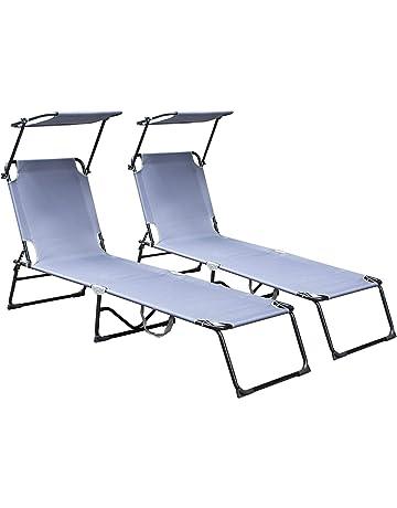 2x tumbona para tomar el sol tiempo libre tumbona tumbona de jardín tumbona plegable camping tumbona tumbona de playa