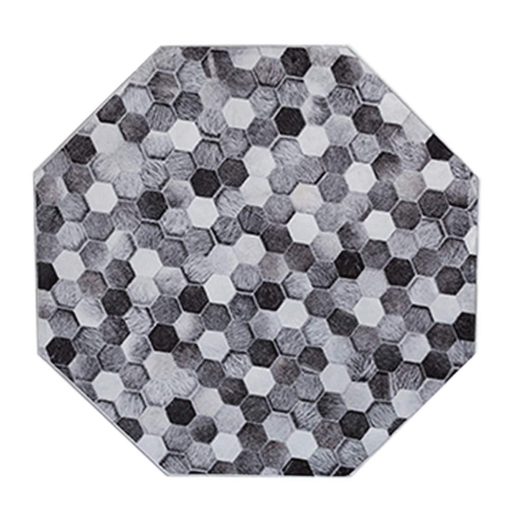 丸い敷物面積短い綿毛ぶら下げバスケットカーペットパッドポリエステル幾何学模様簡単に掃除ホームデコレーション7mm (色 : E, サイズ さいず : Diameter-140vm) Diameter-140vm E B07RXBKSDC