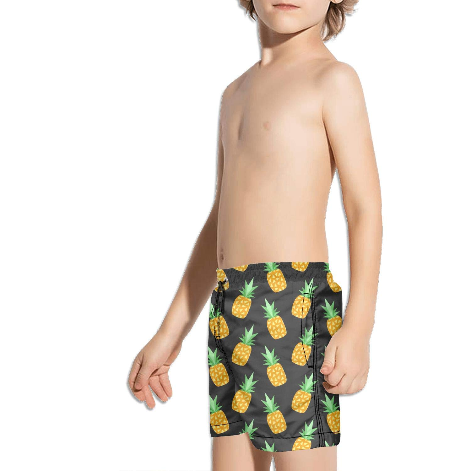 Pineapple Print Decor NAIT.2 Shorts Swimming Tucks for Kid Quick Dry Solid Board Adjustable Swimming Tucks Reusable Workout