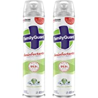 Family Guard Family Guard Desinfectante De Superficies Y Ambientes Frescura Campestre En Aerosol 400 Ml C/u, color, 2 ml…