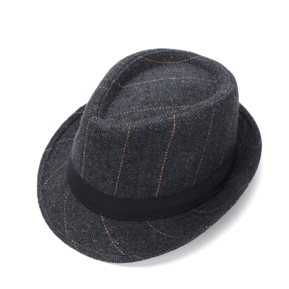 Hat//Korean Tide Fashion Small Plaid hat//Mens British Jazz hat//Female Spring and Autumn and Winter Wool Hats//Old hat