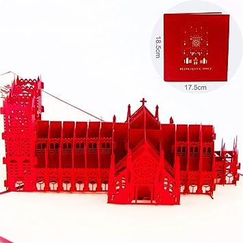 HONZIRY Pop Up Westminster Abbey Tarjetas 3D Tarjeta de ...