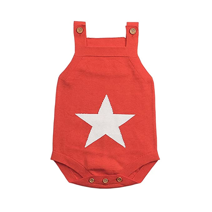 Amazon Mimixiong Baby Knitted Romper Toddler Sling Sleeveless