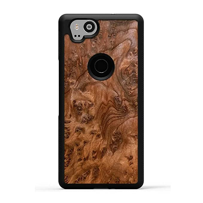 size 40 59dba dd92b Pixel 2 Redwood Burl Wood Traveler Protective Case by Carved, Unique Real  Wooden Phone Cover (Rubber Bumper, Fits Google Pixel 2)
