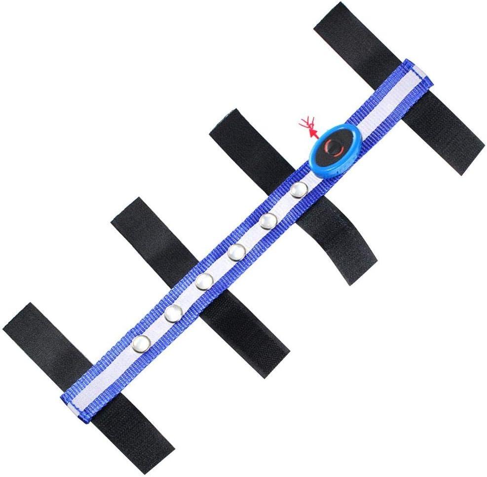 GCSEY Torneo De Jinete Ecuestre Caballo Riendas Riendas LED Azul De Poliéster Cabeza De Caballo Correas Deportes Al Aire Libre