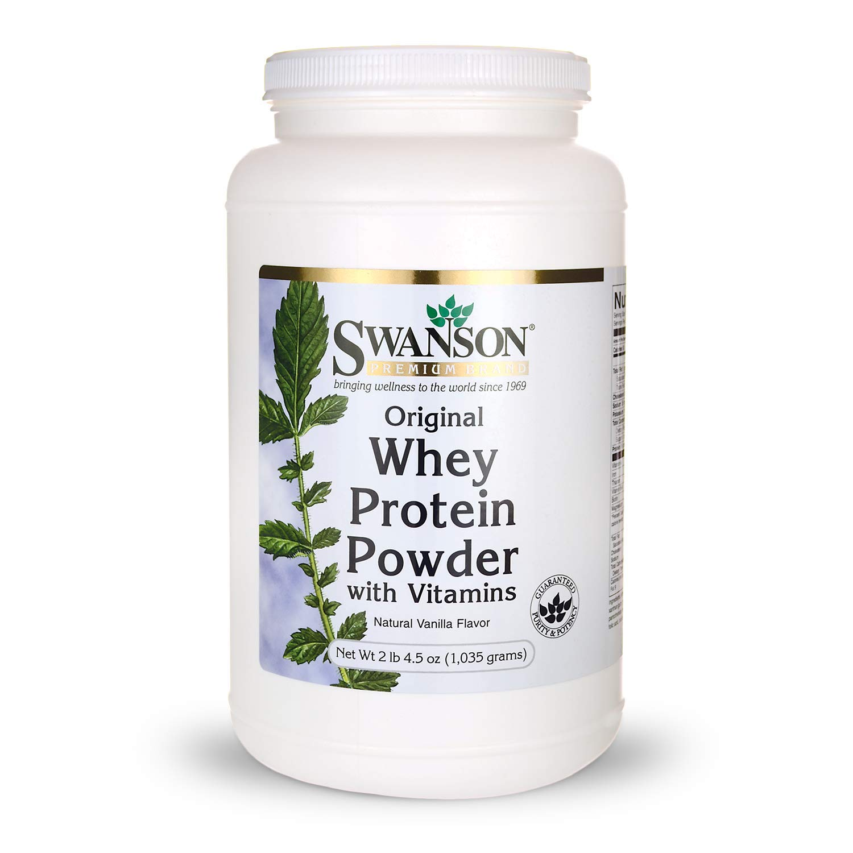 Whey Protein Powder 36.5 oz vanilla flavor 1,035 grams