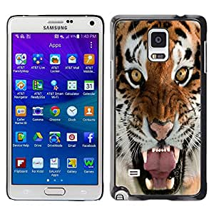 TaiTech/Carcasa rígida - tigre desnervado intensa naturaleza Animal - Samsung Galaxy Note 4 SM-N910F SM-N910K SM-N910C SM-N910W8 SM-N910U SM-N910