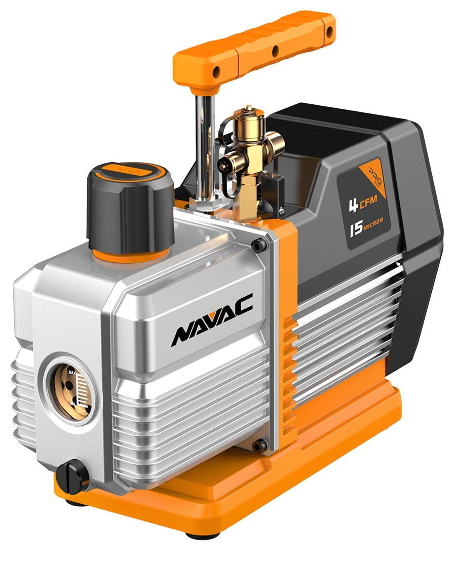 Navac NP4DP Vacuum Pump, 4 CFM, AC Motor, Pro Series