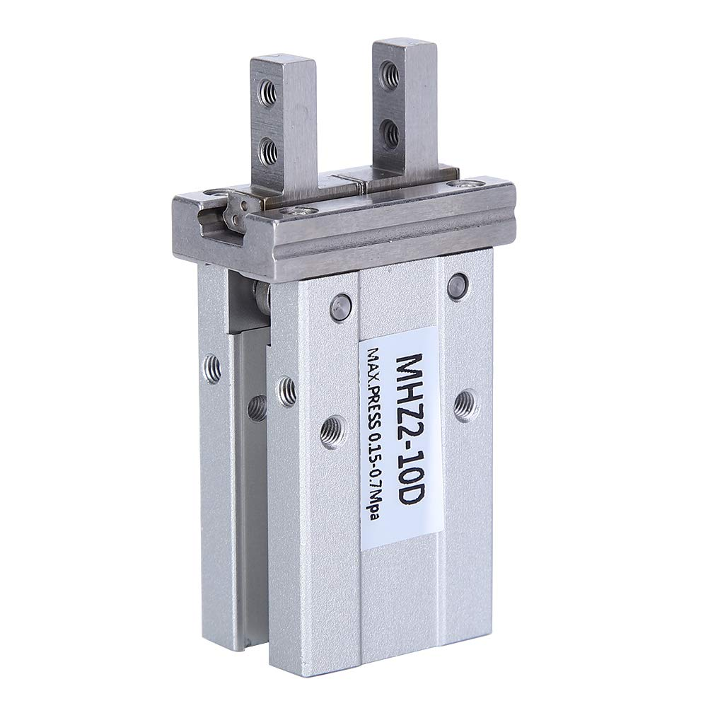 Fingerzylinder Luftgreifer Pneumatischer Zylinder harte Oxidation f/ür Roboterarm MHZ2-10D